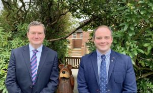 Rick Hyde and Graeme Booth have swapped jobs at Forest Park Prep